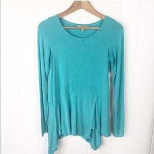 Anthropologie Bordeaux•Teal long Sleeves t shirt